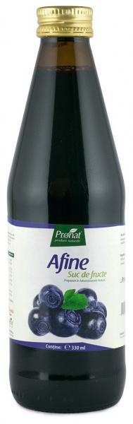 Suc din afine 100%, bio, 330 ml Medicura [0]
