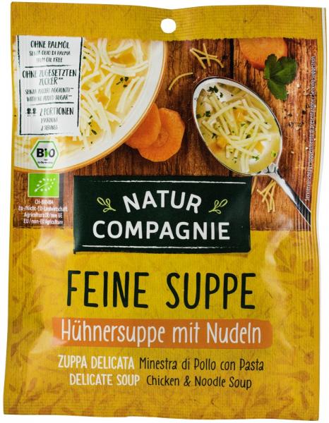 Supa BIO de pui cu taitei, 40 g NATUR COMPAGNIE [0]