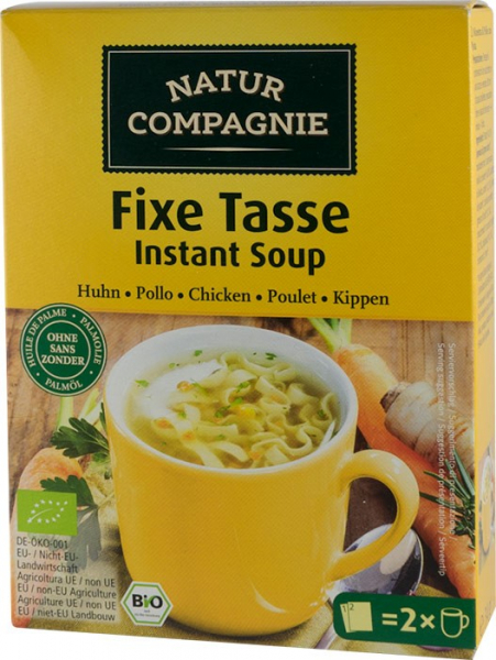 Supa bio instant de pui cu taitei, 34 g NATUR COMPAGNIE [0]