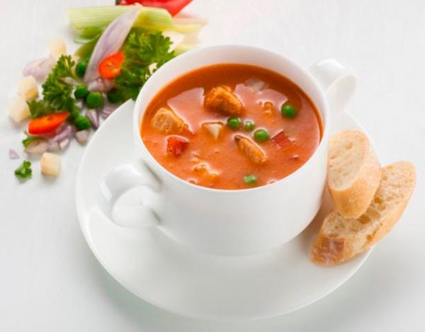 Supa crema de somon salbatic cu legume fine de gradina, bio, 400ml Fontaine [1]