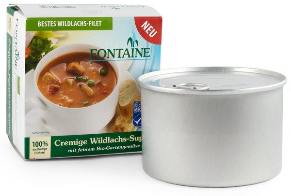 Supa crema de somon salbatic cu legume fine de gradina, bio, 400ml Fontaine [0]