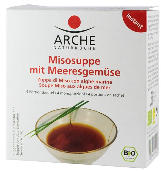 Supa Miso BIO cu legume de mare, 60g Arche [0]