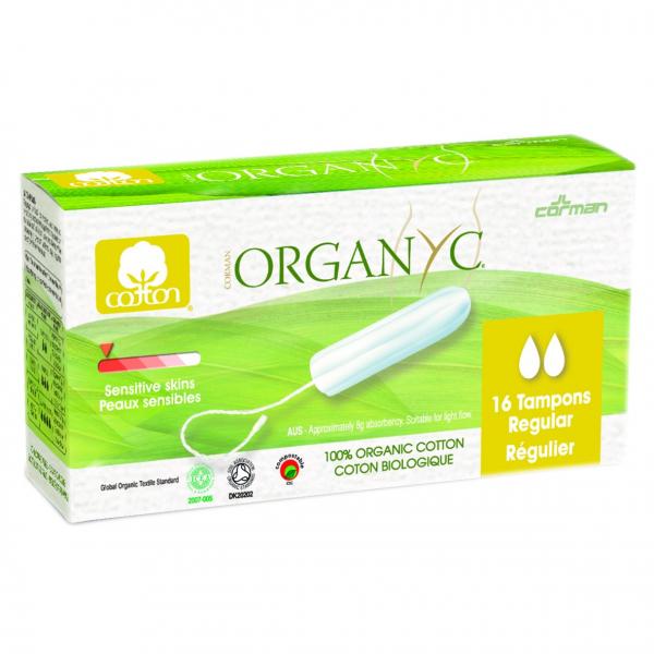 Tampoane REGULAR din bumbac organic  16 buc. Organyc [0]