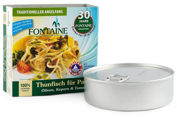 Ton pentru paste, cu masline, capere si rosii, 200g Fontaine [0]