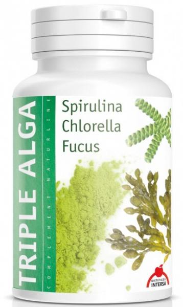 Triplu Alge Spirulina, Chlorella, Fucus, 46,8G Dieteticos Intersa [0]