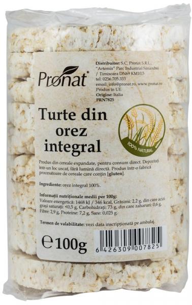 Turte natur din orez integral,  fara sare! 100 g [0]