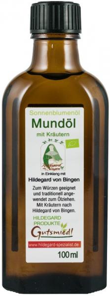 Ulei pentru igienizarea gurii, mix din ulei de  floarea soarelui BIO cu plante medicinale,  100 ml Hildegard von Bingen [0]