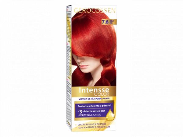 Vopsea de par permanenta Intensse Color 7.6 Rosu Foc - 50 ml [0]