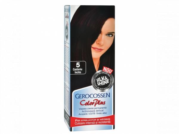 Vopsea de par Silk&Shine 5 Castaniu Inchis - Color Plus 50g [0]