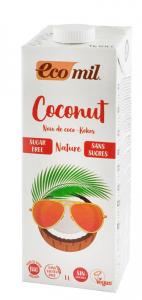 Bautura vegetala Bio de cocos, fara zahar, 1L Ecomil [0]