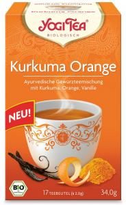 Ceai Bio Din Curcuma, Portocale Si Vanilie, 17 Pliculete - 34,0G Yogi Tea