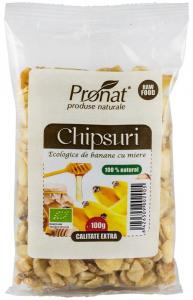 Chipsuri Bio de banane cu miere, 100g [0]