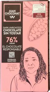 Ciocolata 76% cacao neprajita, 65g Juan Choconat [0]