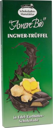 Ciocolata Bio Amaruie Fina Cu Ghimbir Si Trufe, 100G Liebhart S Amore Bio