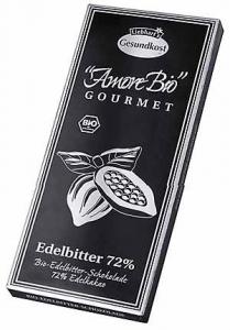 Ciocolata neagra, 72% cacao, 100 g LIEBHART'S AMORE BIO