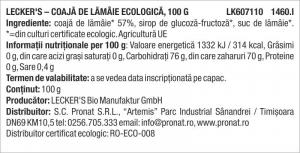 Coaja de lamaie bio, 100 g Lecker's [1]