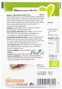 Coaja de lamaie Bio rasa, 9 g Biovegan [1]