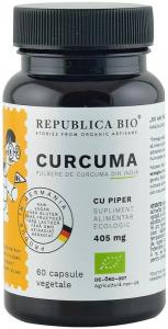Curcuma bio (Turmeric) din India (405 mg), 60 capsule (30 g) [0]