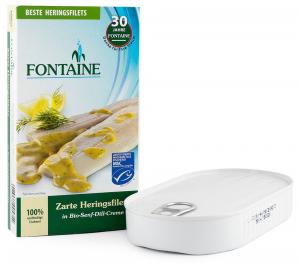 File de hering fraged in sos bio cu mustar si marar, 200g Fontaine [0]