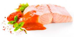 File de somon salbatic in sos de rosii bio si sos de busuioc, 200g Fontaine [1]
