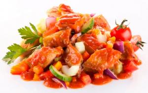 Salata de macrou Toscana cu legume bio si ulei de floarea soarelui presat la rece, 200g Fontaine [1]