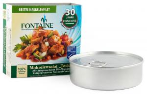 Salata de macrou Toscana cu legume bio si ulei de floarea soarelui presat la rece, 200g Fontaine [0]