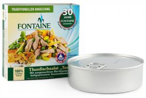 Salata de ton Texas cu legume bio si ulei de floarea soarelui presat la rece, 200g Fontaine [0]