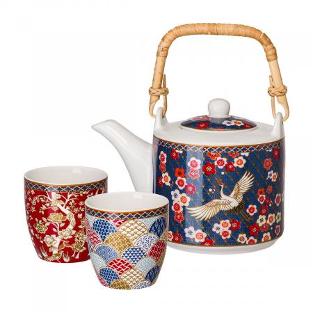 Set de ceai din portelan Atmosphere - un ceainic si doua cescute in cutie cadou [0]