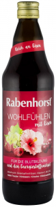 ,,Stare de bine Suc din fructe cu flori de hibiscus  si fier, 0.75L RABENHORST [0]