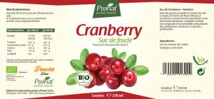 Suc de merisoare ( afine rosii ),100%, bio, 330 ml Medicura [1]