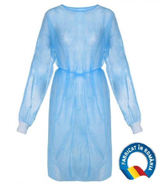 Halat medical impermeabil albastru 40 gr/mp [0]