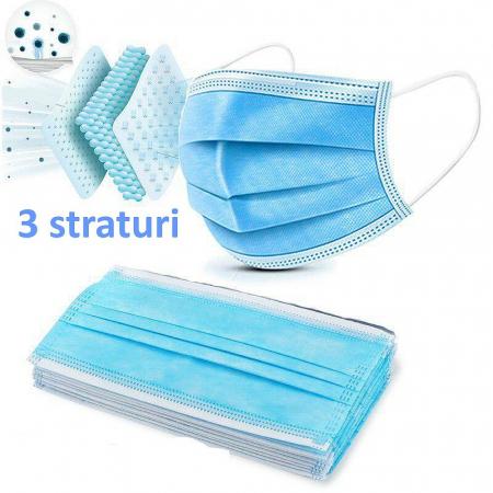 50 Masti de protectie chirurgicale din 3 straturi [1]