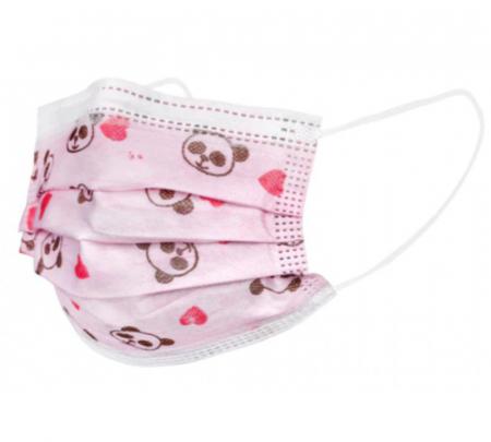 Cutie 50 masti de protectie pentru copii (roz) [1]