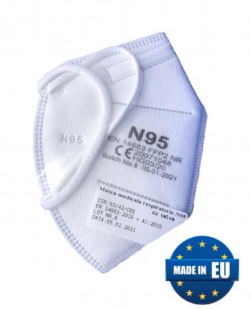 Masca medicala de Protectie FFP2 (eficienta >95%) cu valva, fabricata in UE [0]