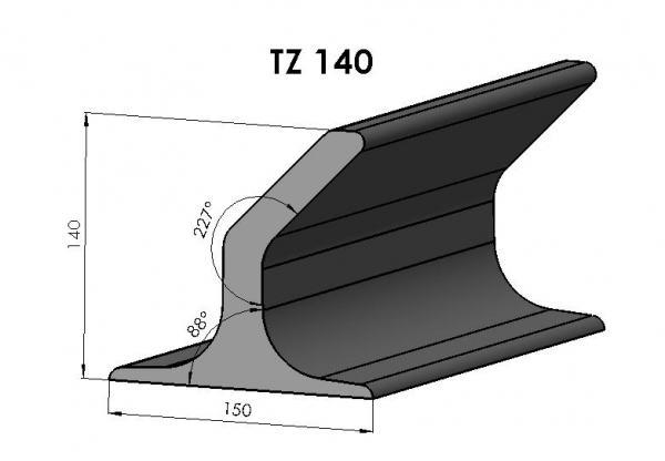 Racleti din cauciuc TZ140 pentru benzi transportoare [0]