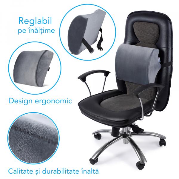 Pernă ortopedică lombară pentru scaun cu suport lombar [4]