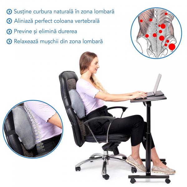 Pernă ortopedică lombară pentru scaun cu suport lombar [3]
