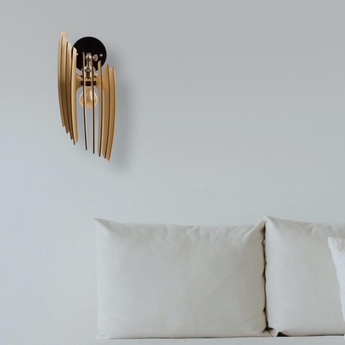 Aplică din lemn Oblique – Crem [1]