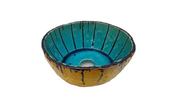 """Chiuveta Ceramica UNICAT """"Blue Sky"""" [3]"""