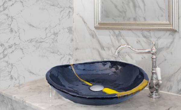 "Chiuveta ceramica UNICAT ""Negru Satin"" [0]"