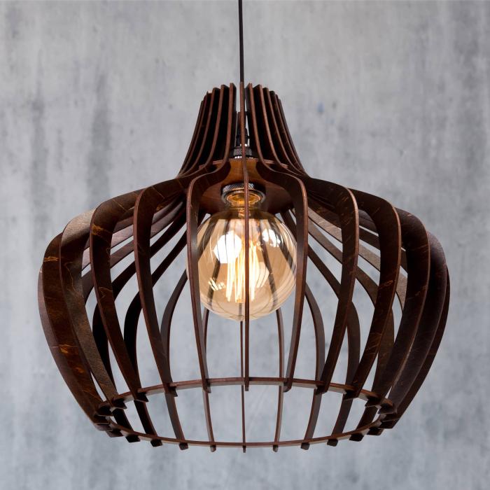 Lustră din lemn Calypso – Wenge [2]