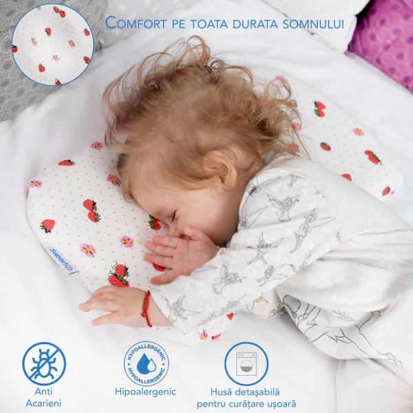 Pernă bebeluși ortopedică | pernă pentru formarea capului la bebeluși [1]