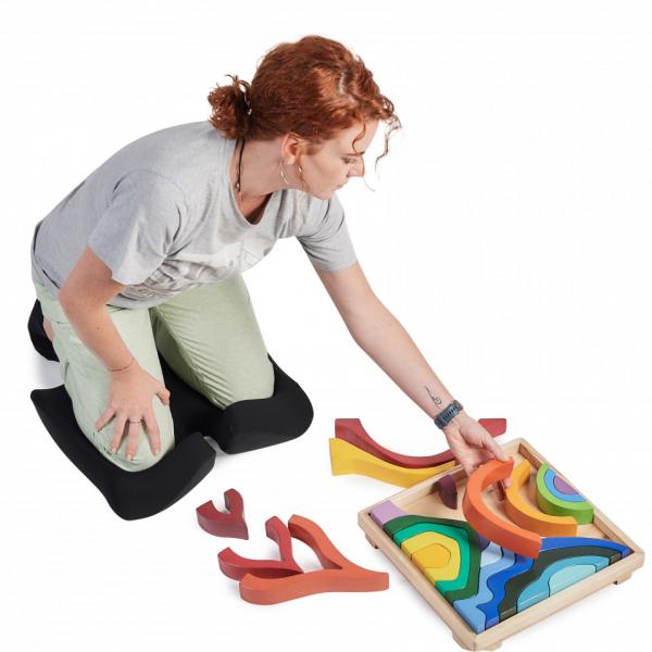 Perna Ortopedică Suport Coccis pentru scaun de birou sau mașină, spumă cu memorie, ameliorează durerile și îmbunătățește postura, confort sporit [4]
