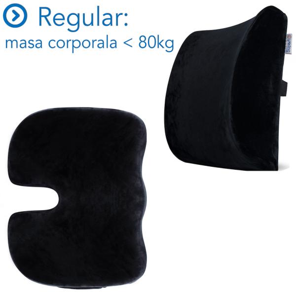 Set Perne Ortopedice Fermitate Extra/Regular | Culoare Negru [0]