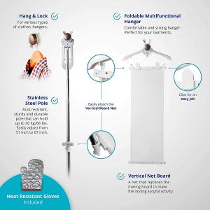 Aparat de calcat vertical cu abur SABI Q5 2200 W, debit abur 50 g/minut, 98° temperatura aburului, eficient sterilizeaza hainele [2]