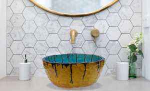 """Chiuveta Ceramica UNICAT """"Blue Sky"""" [4]"""