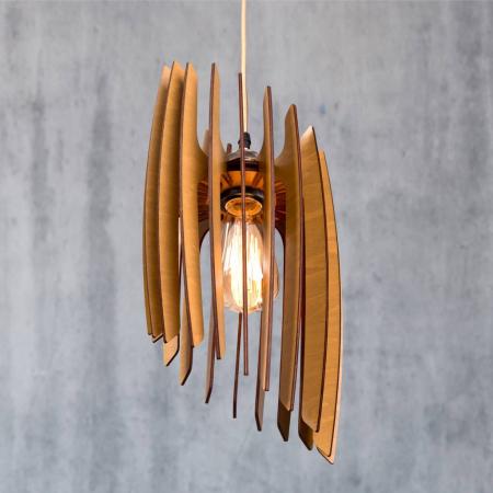 Lustră din lemn Oblique – Pin [1]