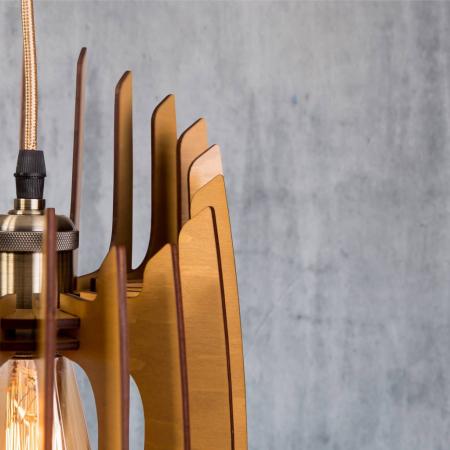 Lustră din lemn Oblique – Pin [2]