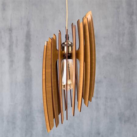 Lustră din lemn Oblique – Pin [0]