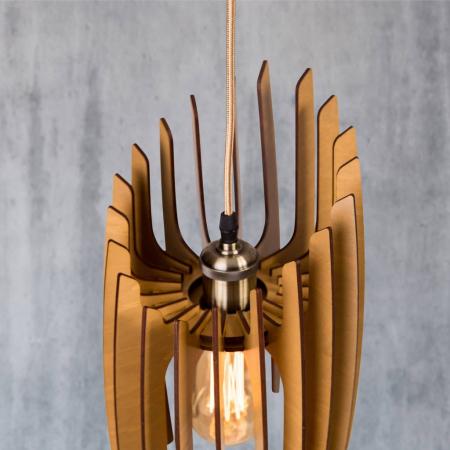 Lustră din lemn Oblique – Pin [3]